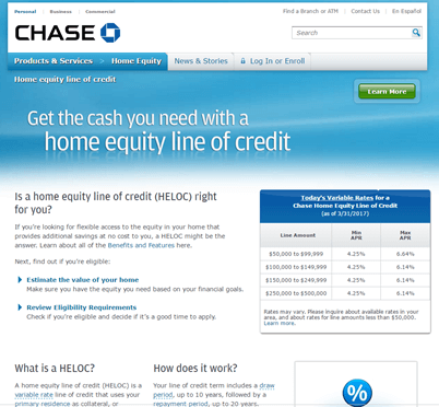 Chase Home Equity Line of Credit